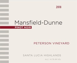 2018 Peterson Vineyard Pinot Noir